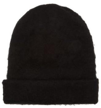 Acne Studios Peele Wool Blend Beanie Hat - Womens - Black