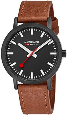 Mondaine ' SBB' Swiss Quartz Stainless Steel and Leather Casual Watch