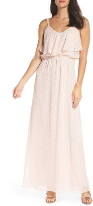 Charles Henry Popover Cami Maxi Dress