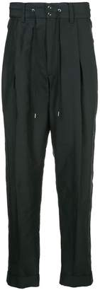 Takahiromiyashita The Soloist lace-up waistband trousers