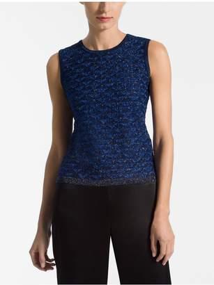 St. John Diamond Lace Knit Shell