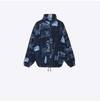 Balenciaga Oversize Zip Up Sweatshirt