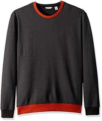 Calvin Klein Men's Long Sleeve Heat Transfer Logo Pullover Sweatshirt