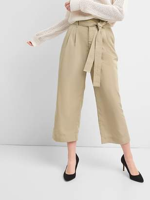 Gap Tie-Waist Crop Wide-Leg Pants