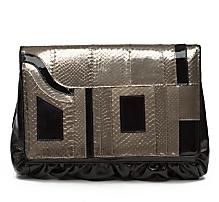 BE&D Kiss Patent/Snake Portfolio Bag