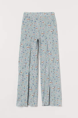 H&M Pants with Slits - Turquoise