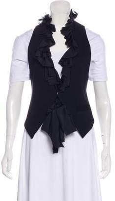 Elizabeth and James Silk-Trimmed Woven Vest