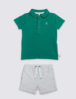 Marks and Spencer 2 Piece Top & Short Outfit (3 Months - 7 Years)