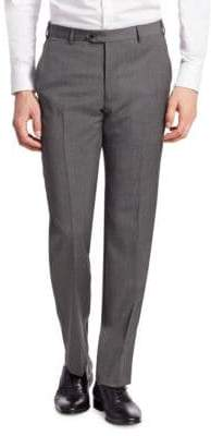 Emporio Armani Men's Charcoal Wool Dress Pants - Slate Grey - Size 48 (32)