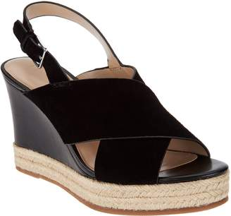 97f15467160ffa at QVC · Halston H By H by Slingback Crossover Espadrille Wedges - Stella