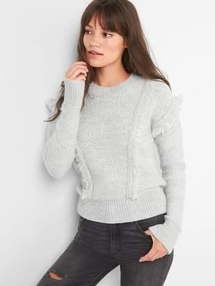 Gap Fringe jacquard crewneck sweater