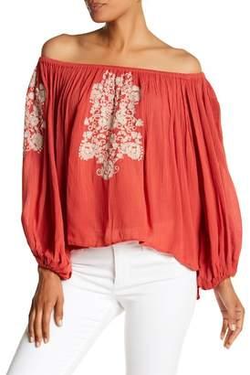 Banjara Off-the-Shoulder Embroidered Blouse