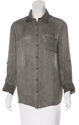 Alice + Olivia Collared Button-Up Top