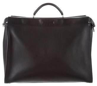 Fendi Leather Studded Briefcase