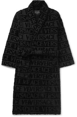 Versace (ヴェルサーチ) - Versace - Logo-Jacquard Cotton-Terry Robe