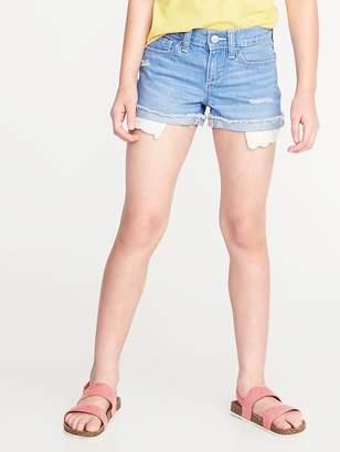 Old Navy Lace-Pocket Denim Cutoffs for Girls