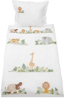 Hand-Embroidered Cotton Duvet Cover