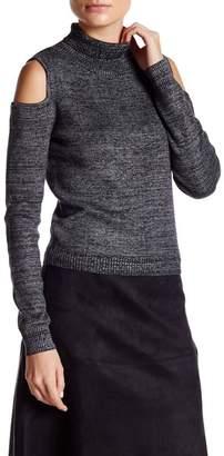 Turtle Neck Cold Shoulder Sweater $63 thestylecure.com