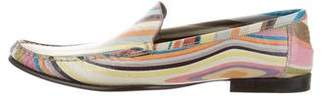 Paul Smith Striped Round-Toe Loafers