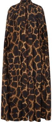 Dolce & Gabbana Animal-print Cady Cape - Brown