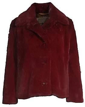 Burberry (バーバリー) - Burberry Burberry Women's Allison Button-Front Faux Fur Coat
