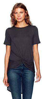 Enza Costa Women's Short Sleeve Knot Hi-Lo T-Shirt