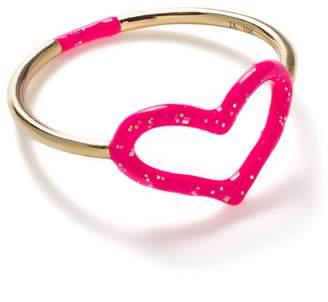 Jordan Askill Pink Glitter Enamel Heart Ring