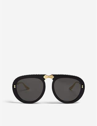 Gucci GG0307s pilot-frame foldable sunglasses
