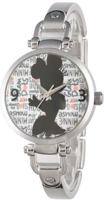 Disney Minnie Mouse Womens Silver Tone Bracelet Watch-W002813