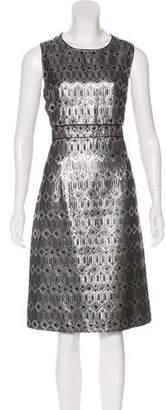 Tory Burch Metallic Sleeveless Midi Dress