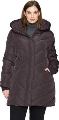 Steve Madden Women's Plus Size Long Outerwear Jacket