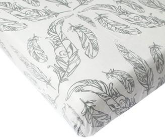 Nest Designs Crib Sheet, Feather White