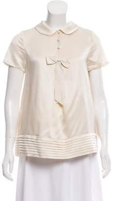 Manoush Short Sleeve Bow Top