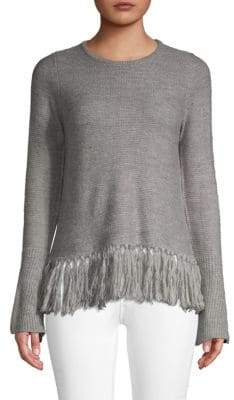 Design History Fringe Sweater