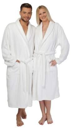 Linum Home Textiles Home White Turkish Cotton Terry Bath Robe