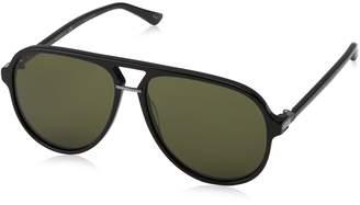 Gucci Men's Polarized GG0015S-001-58 Aviator Sunglasses