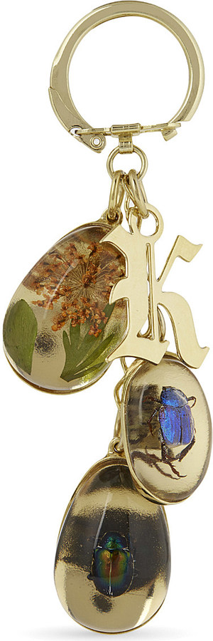 Christopher Kane Christopher Kane Beetle and flower keyring
