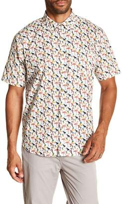 Tailor Vintage Tropical Print Short Sleeve Poplin Shirt