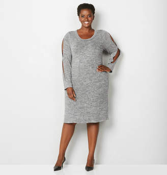 Avenue Hacci Fit and Flare Dress