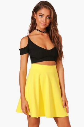 boohoo Fit & Flare Highwaist Mini Skirt