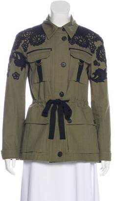 Veronica Beard Lightweight Embroidered Jacket
