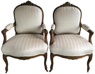 One Kings Lane Vintage 19th-C. Napoleon lll-Style Chairs - Set of 2 - Chez Marie Antiques