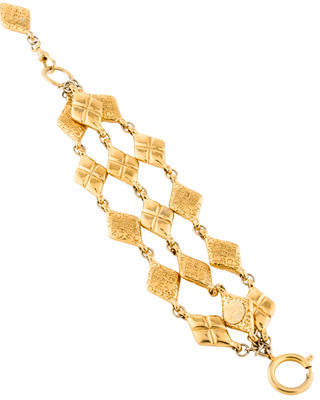 Chanel Quilted Multi-Strand Bracelet $595 thestylecure.com