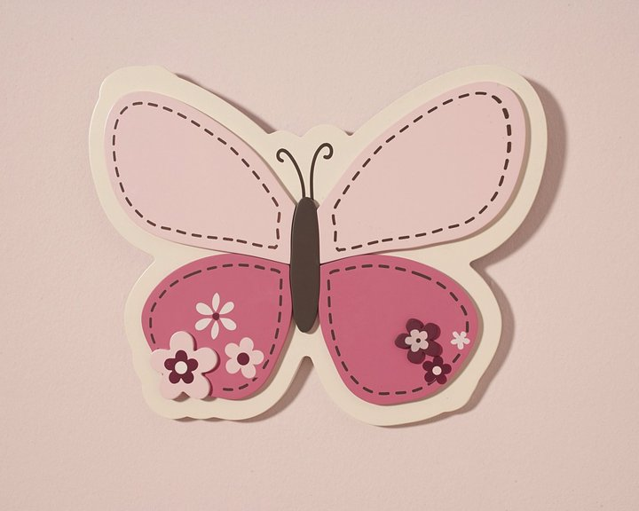 Carter's Butterfly Flowers- Wall Art