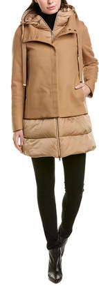 Herno Dora Long Down Wool-Blend Coat