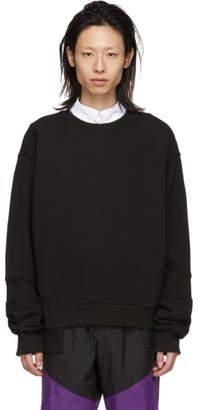 D.gnak By Kang.d Black Ribbed Asymmetry Sweatshirt