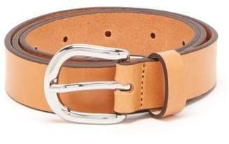 Isabel Marant Zap Skinny Leather Waist Belt - Womens - Tan