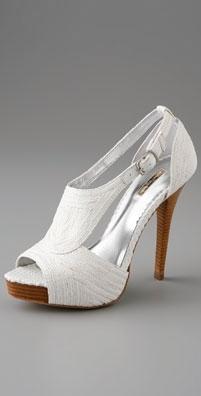 Report Signature Shoes Lucie Platform Raffia Sandal