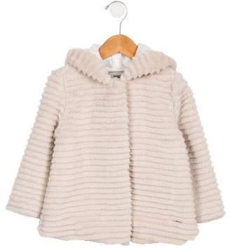 Mayoral Girls' Hooded Faux Fur Jacket