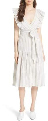 Rebecca Taylor Stripe Midi Dress
